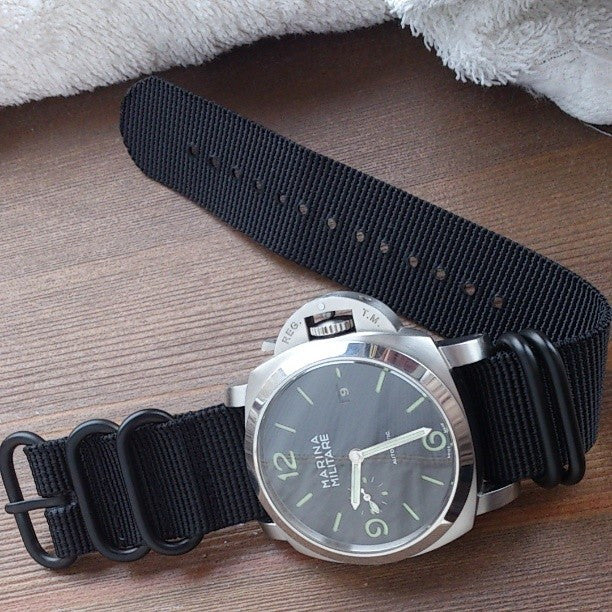Extra Long PVD Zulu Strap 5-ring Black - Cheapest NATO Straps  - 7