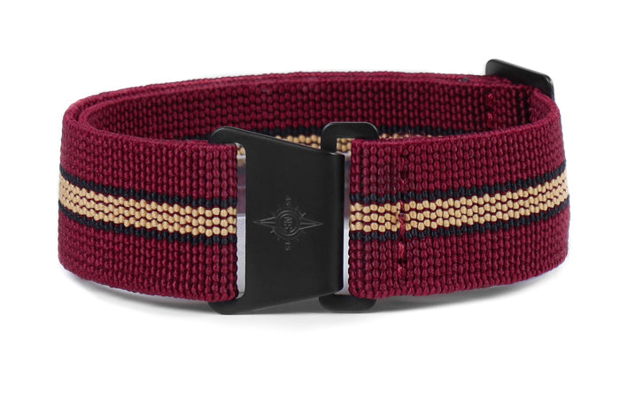 Marine Nationale PVD Strap Burgundy, Black and Beige