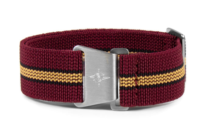 Marine Nationale Strap Burgundy, Black and Beige