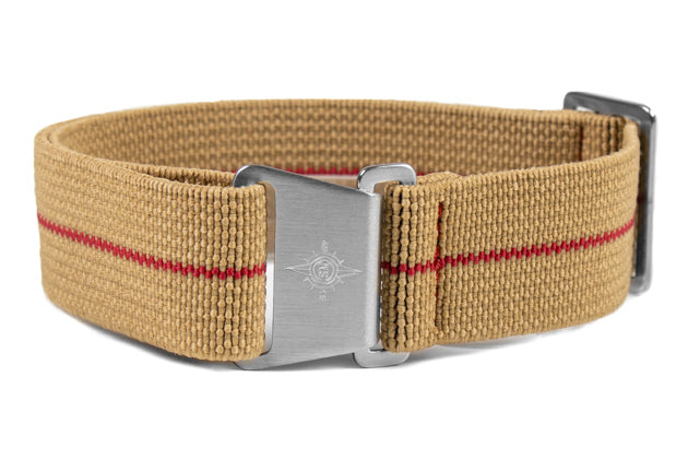 Marine Nationale Strap Khaki and Red