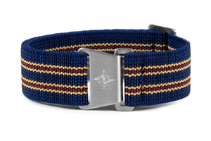 Marine Nationale Strap Midnight, Beige and Burgundy