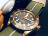 Bronze Marine Nationale Strap Khaki Green and White