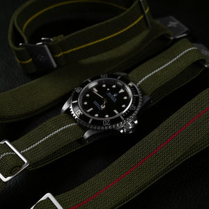 Marine Nationale Strap Khaki Green and Red