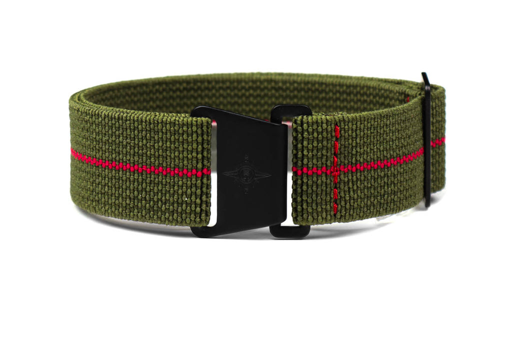 Marine Nationale PVD Strap Khaki Green and Red