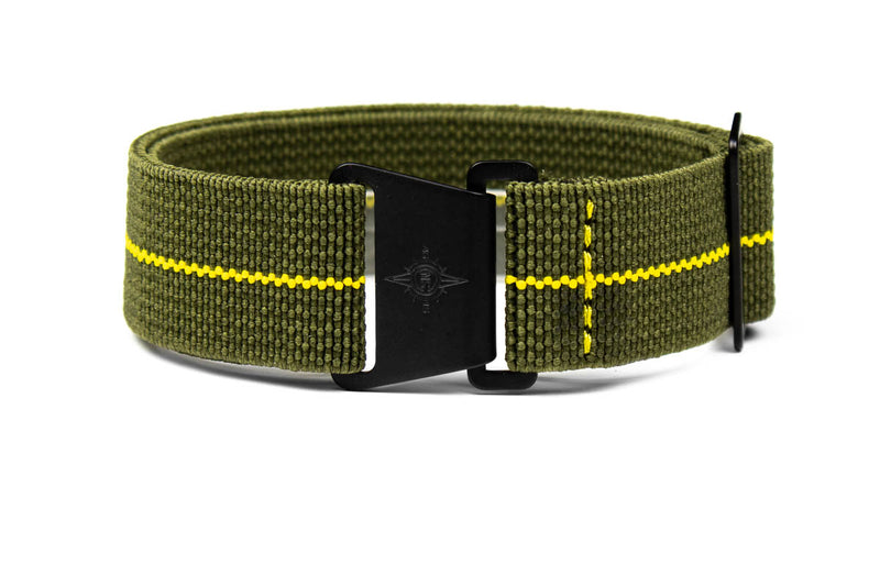 Marine Nationale PVD Strap Khaki Green and Yellow