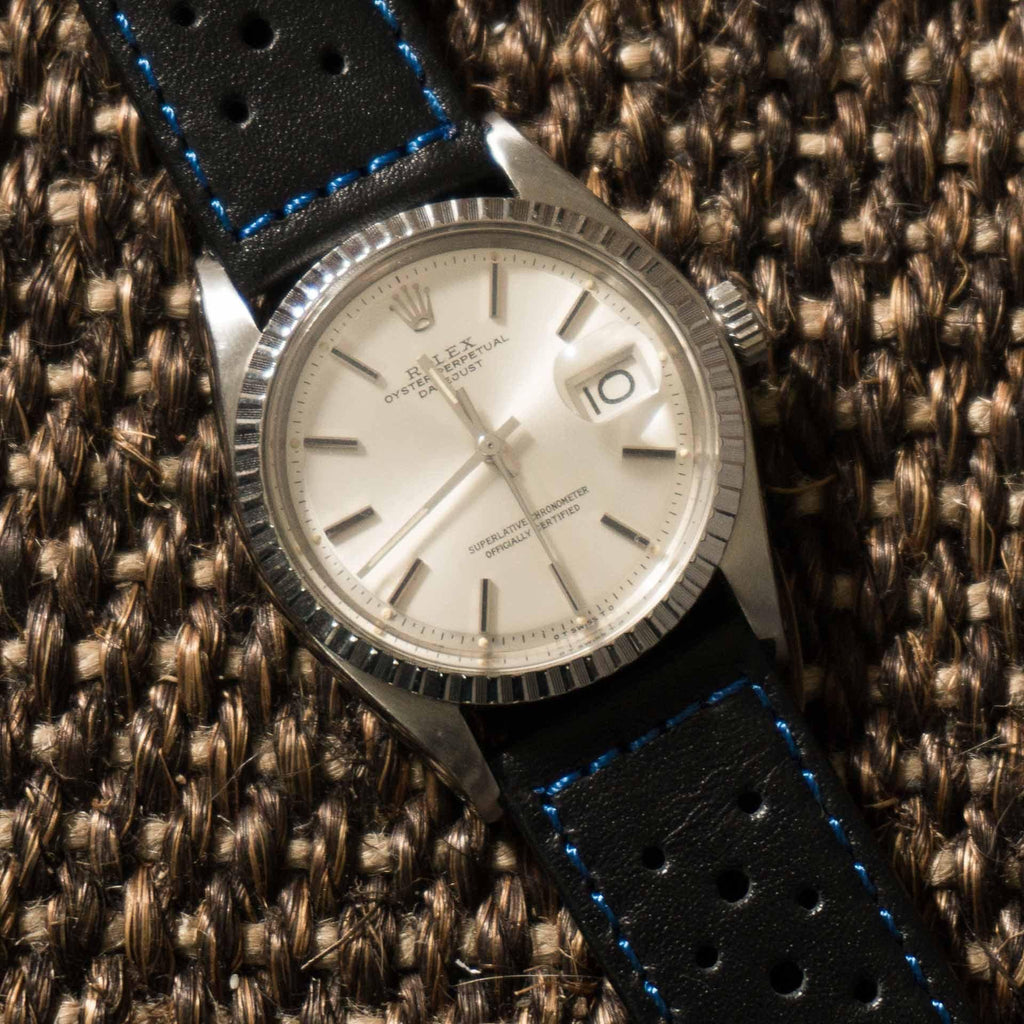 Monte Carlo Black with blue stitching - Cheapest NATO Straps  - 5