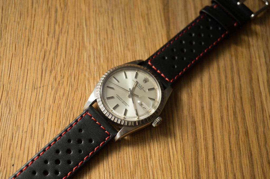 Monte Carlo Black with red stitching - Cheapest NATO Straps  - 3