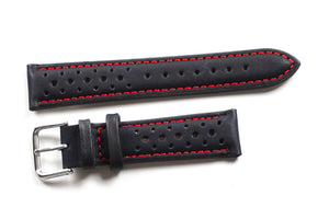 Monza Black with red stitching