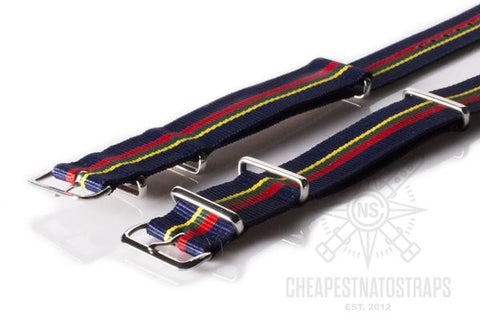 NATO Regimental Strap Blue, red, green and yellow (18 & 22 mm)