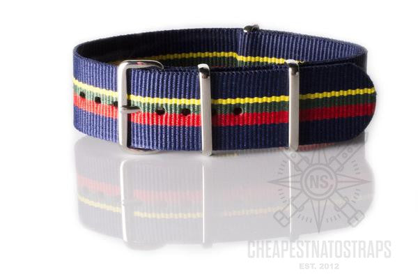 NATO Regimental Strap Blue, red, green and yellow