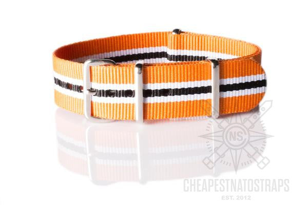 NATO Regimental Strap Racing, Orange, White and Black