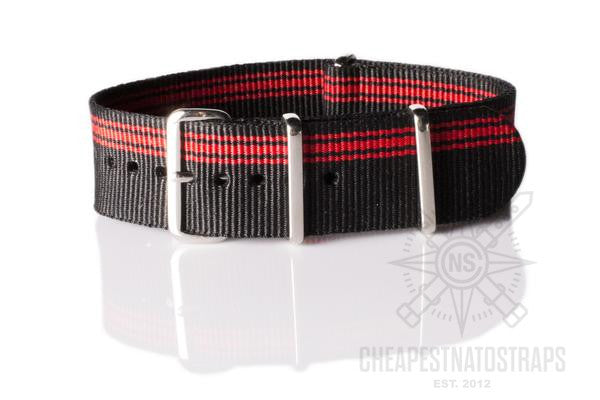 NATO Regimental Strap Red Ducati stripe