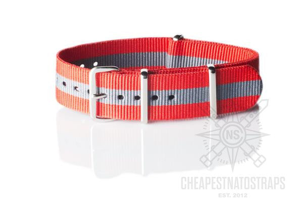 NATO Strap Red and Gray