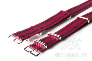 NATO Strap Red with two Navy stripes