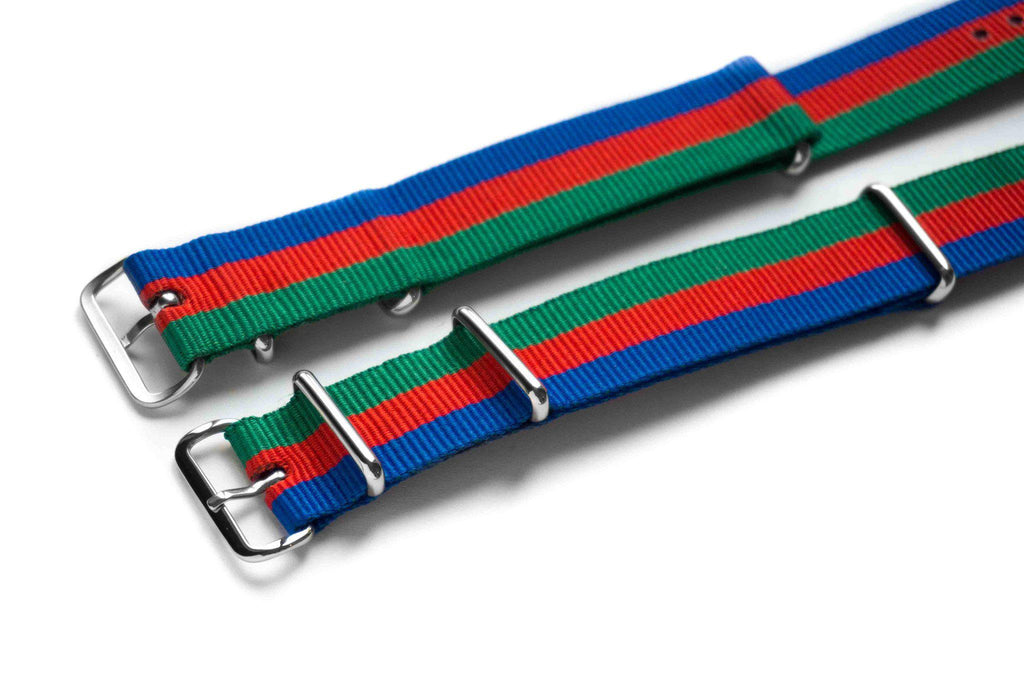 NATO Regimental Strap Green, Red and Blue