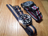 PVD premium NATO Strap Black, white, blue and red - Cheapest NATO Straps  - 5