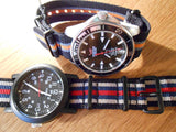 PVD premium NATO Strap Black, white, blue and red - Cheapest NATO Straps  - 6