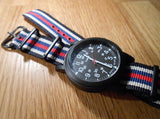 PVD premium NATO Strap Black, white, blue and red - Cheapest NATO Straps  - 3