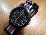 PVD premium NATO Strap Black, white, blue and red - Cheapest NATO Straps  - 4