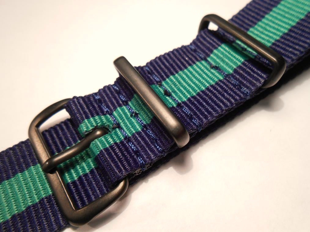 PVD premium NATO Strap Navy and green - Cheapest NATO Straps  - 2