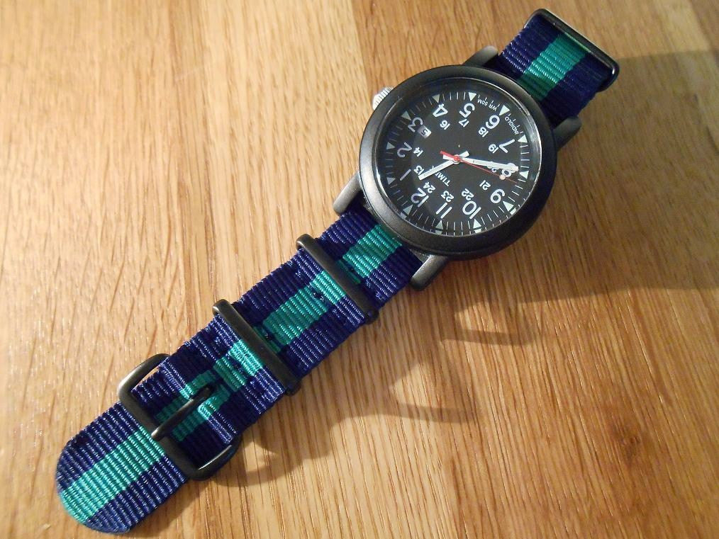 PVD premium NATO Strap Navy and green - Cheapest NATO Straps  - 4