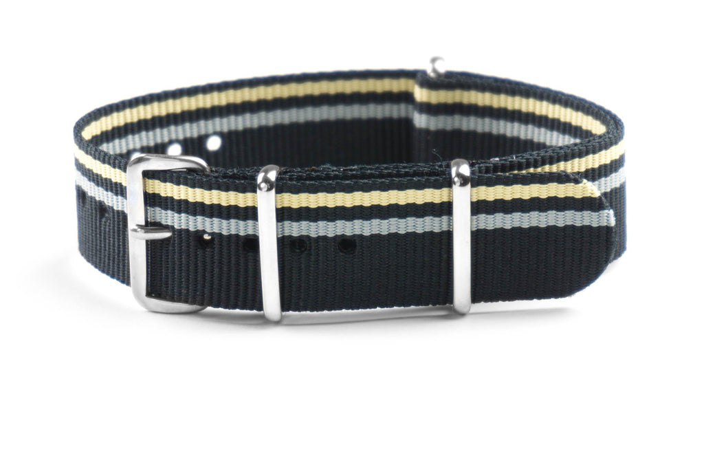 NATO Strap Black, Beige and Gray