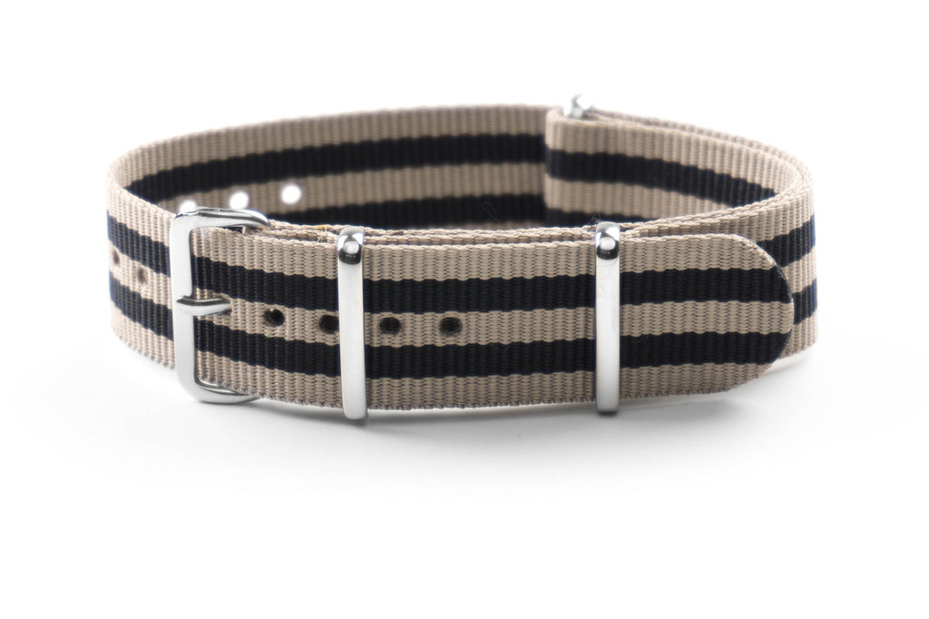 NATO Strap Beige and Black