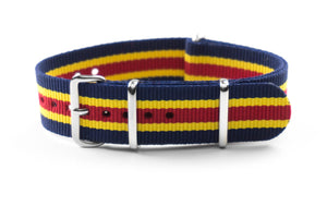 NATO Strap Navy, yellow and red
