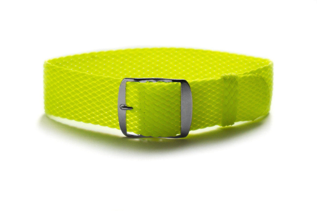 Adjustable Neon Yellow Perlon strap