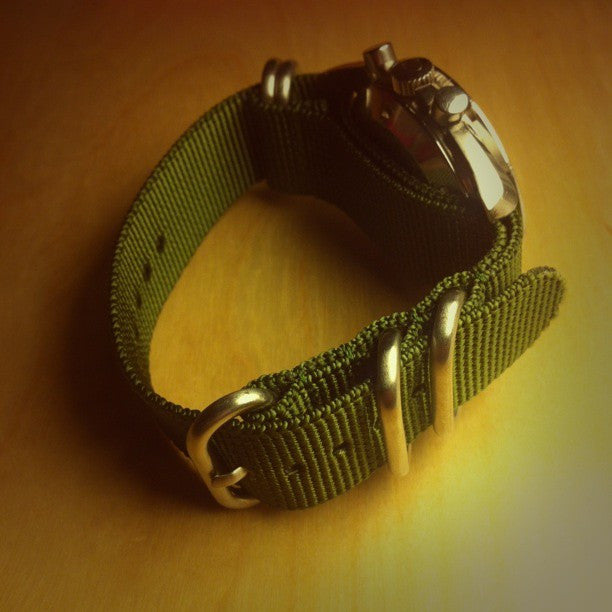 Extra Long Zulu strap SS 5-ring Khaki Green - Cheapest NATO Straps  - 7