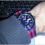 NATO Regimental Strap Blue and Red 5 stripe - Cheapest NATO Straps  - 3