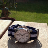 Zulu strap SS 5-ring Navy and White - Cheapest NATO Straps  - 4