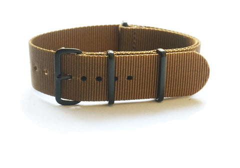 Extra Long PVD NATO Strap Golden Brown - Cheapest NATO Straps  - 1
