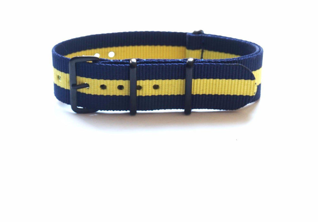 PVD premium NATO Strap Navy and Yellow - Cheapest NATO Straps  - 1