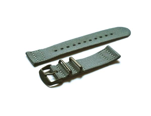 Two Piece PVD NATO Strap Gray (18, 20 & 22 mm)