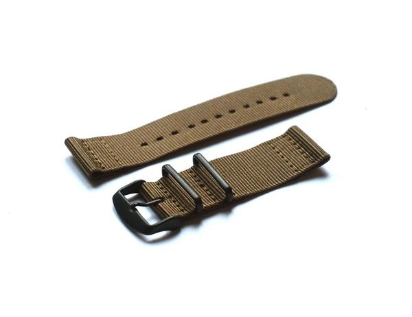 Two Piece PVD NATO Strap Khaki (22 mm)