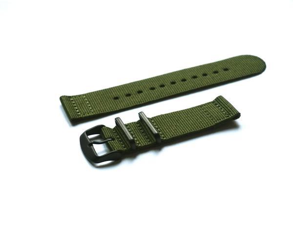 Two Piece PVD NATO Strap Khaki Green (24 & 26 mm)