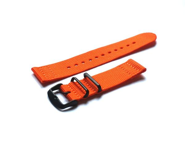 Two Piece PVD NATO Strap Orange (20 mm)