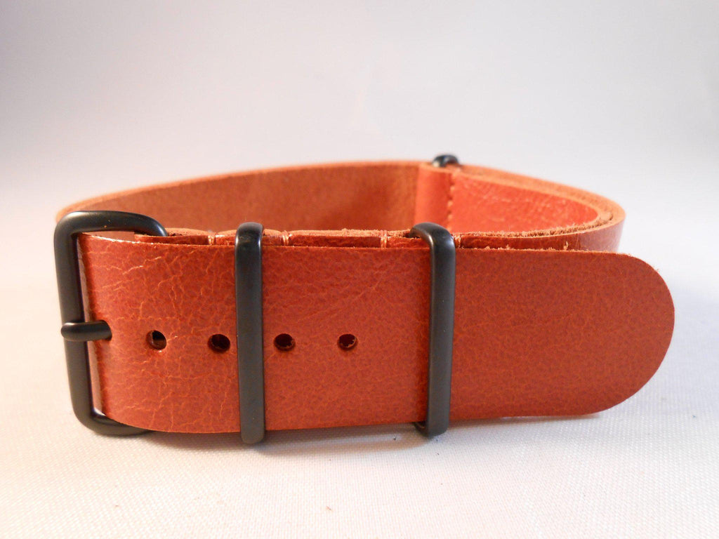 PVD Leather NATO Strap Autumn - Cheapest NATO Straps  - 1