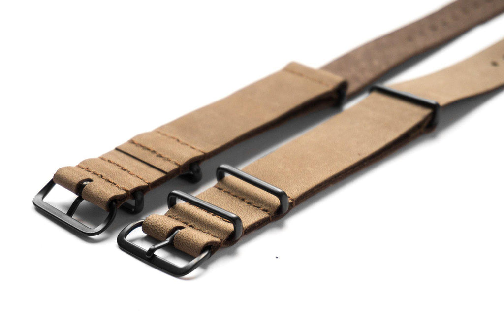PVD Leather NATO Strap Truffle - Cheapest NATO Straps  - 2