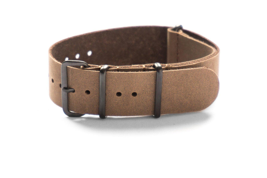 PVD Leather NATO Strap Truffle - Cheapest NATO Straps  - 1