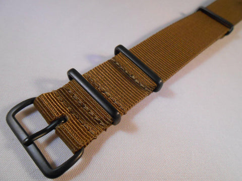 Extra Long PVD NATO Strap Golden Brown - Cheapest NATO Straps  - 2