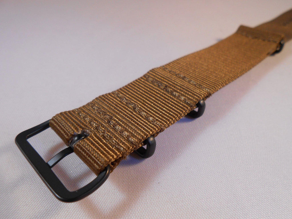 Extra Long PVD NATO Strap Golden Brown - Cheapest NATO Straps  - 3
