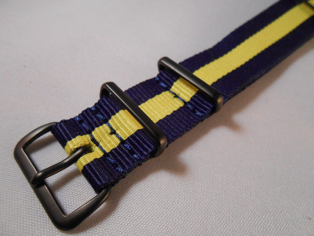 PVD premium NATO Strap Navy and Yellow - Cheapest NATO Straps  - 2