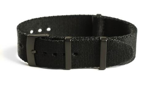 PVD Deluxe Seat Belt NATO Black (20 mm)