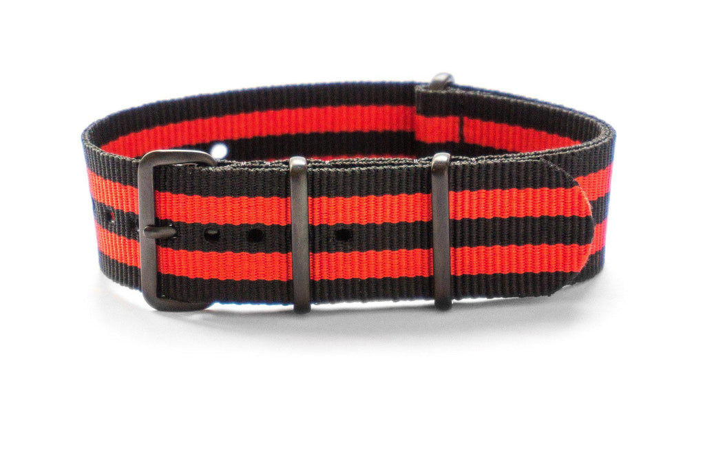 PVD premium NATO Strap Black and Red