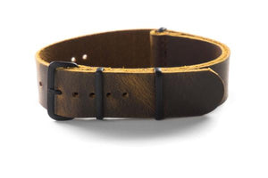 PVD Leather NATO Strap Chocolate