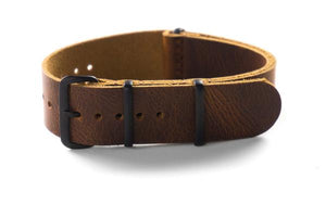 PVD Leather NATO Strap Sienna