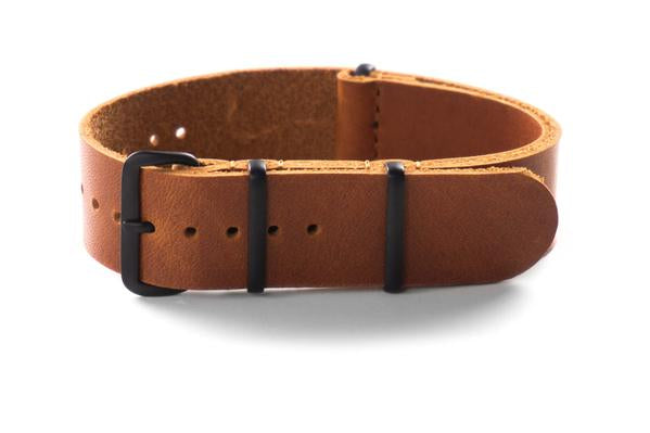 PVD Leather NATO Strap Oak