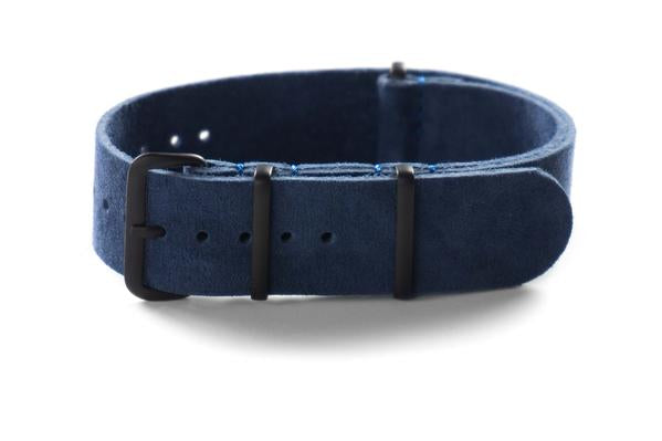 PVD Suede NATO Strap Navy